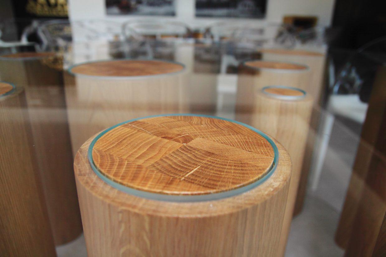 Tavoli serramenti in legno treviso - Base per tavolo in vetro ...
