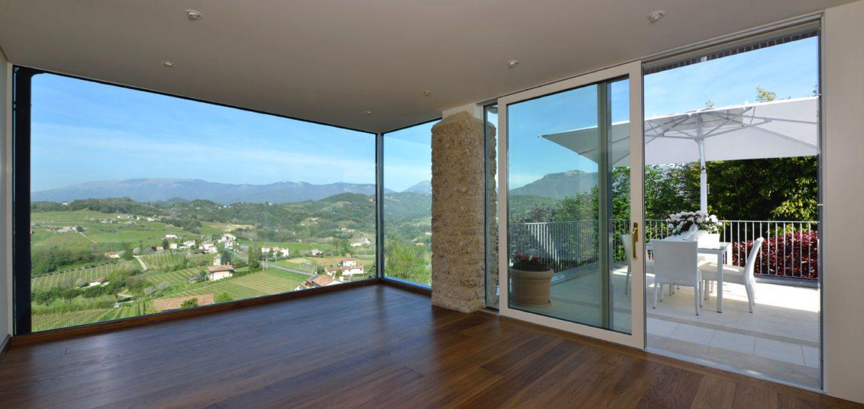 Porte finestre e alzanti scorrevoli e serramenti treviso - Porte scorrevoli in alluminio per esterno ...